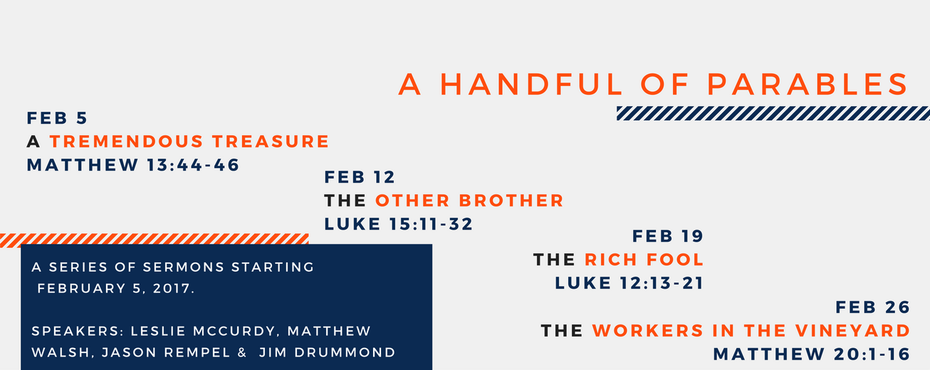 Sermon series - A Handful of Parables