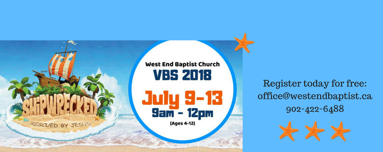 Join us for VBS 2018 at West End Baptist - July 9-13