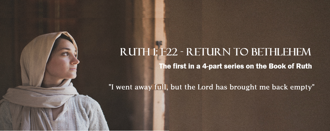 Join us for a 4-part series on the Book of Ruth starting September 23 / 10:30 a.m.